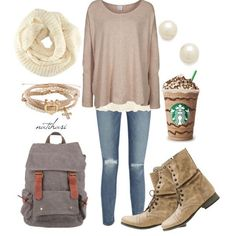 Cute and Comfy Fall School Outfit