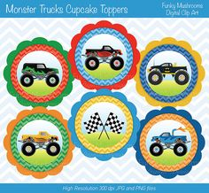 36 best Monster Truck Party Printables images on Pinterest ...