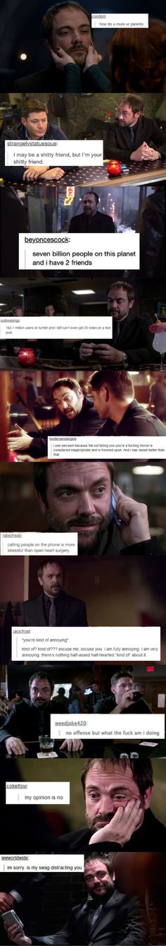 Crowley + tumblr text posts equals awesomeness, love Crowley