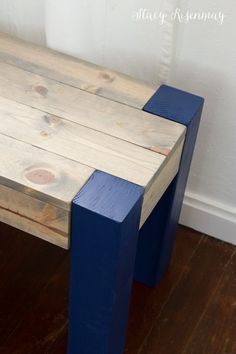 Easy DIY Bench | Not JUST A Housewife                                                                                                                                                                                 More
