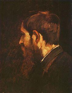 Portrait of László Paál, Mihály Munkácsy Victor Vasarely, Josef Albers, Willem De Kooning, Art Database, Old Master, Pin Up Art, Western Art, Famous Artists, Portrait Art