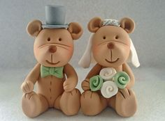 teddy bear wedding cake toppers 1000 images about animal and groom cake toppers on 20791
