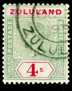 1894 Zululand fine used Vacation Scrapbook, Kwazulu Natal, Queen Victoria, Stamp Collecting, Junk Journal, Postage Stamps, Colonial, South Africa, Empire