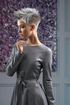 Best Womens Hairstyles For Fine Hair – HerHairdos Short Shaved Hairstyles, Undercut Hairstyles, Pixie Hairstyles, Punk Pixie Haircut, Short Grey Hair, Short Hair Cuts, Shaved Hair Designs, Pelo Pixie, Corte Y Color