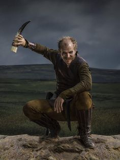 "Vikings Gustaf Skarsgard as ""Floki"" Vikings Show, Vikings Tv Series, Floki, Ragnar Lothbrok, Sons Of Ragnar, Gustaf Skarsgard, Viking Series, Viking Costume, Viking Life"