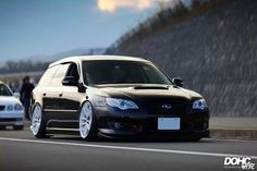 This is so clean, loving the white wheels with the Black Legacy Wagon! <3