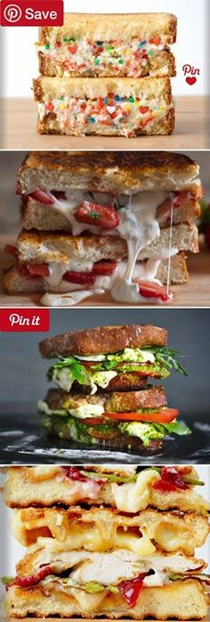 58 Grilled Cheeses Worth Selling Your Soul For - Creative grilled cheese sandwich recipes including: Funfetti & Riccotta Cheese Burrata Balsamic Strawberry Chicken & Waffle and Caprese & Fresh Mozzarella are but a few of the easy #GrilledCheese recipes I hope youll enjoy as much as my family did. #delicious #diy #Easy #food #love #recipe #tutorial #yummy Make sure to follow cause we post alot of food recipes and DIY  we post Food and drinks  gifts animals and pets and sometimes art and of…