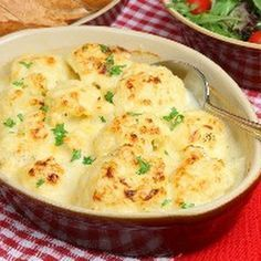 Oven-Roasted Cauliflower with Garlic, Olive Oil and Lemon Juice @keyingredient #cheese