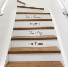 Intimate Stairs: Painted, Stenciled & Wallpapered