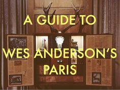 Did you know Wes Anderson lives in Paris?When he's not off makingone of his beautifully idiosyncraticfilms, the directorkeeps a low profile in his Parisian apartment and office, no doubt decorated as charmingly as his moviesets. We've been invited into Wes' whimsical world through his lens, but