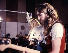 Duane Allman and Berry Oakley during the sessions for Idlewild South... courtesy Wayne Knight