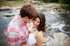 mountain stream engagement picture, Jen & Chris Creed, Photographers