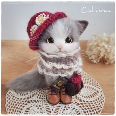 Needle felted cat by ◆ Ciel serein ◆ of Japan