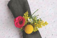 diy ronds de serviette fleuris