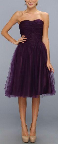 Pretty purple tulle dress.