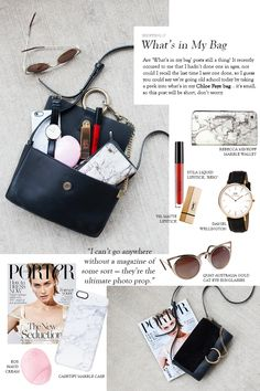 What'S in my chloe bag Makeup Bag Essentials, Travel Bag Essentials, Chloe Bag, What In My Bag, What's In Your Bag, Mini Backpack, Backpack Bags, My Bags, Purses And Bags