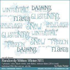 Randomly Written Winter No. 01 Brushes and Stamps - Photoshop Brushes
