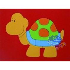 Quebra Cabeça de Placas, Quebra Cabeça de Madeira, Quebra Cabeça de Tartaruga, Brinquedos Pipoquinha, Brinquedos Educativos, Brinquedos de Madeira,