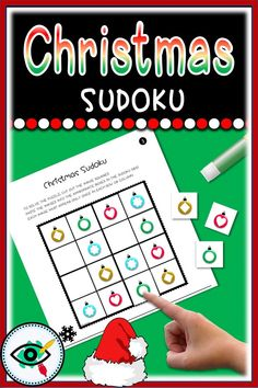 Christmas Sudoku image games for kids. These Sudokus have been specially designed for beginning puzzle solvers. Sudoku is a great way to practice math and logical skills and also improves memory. Suitable for grades Primary School, Elementary Schools, Second Grade Games, Puzzle Solver, Christmas Activities For Kids, Educational Games For Kids, Holidays With Kids, Home Schooling, Teaching Resources