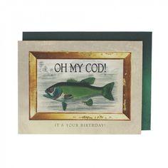 Oh my cod birthday card