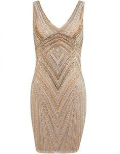 Goldenes Pailletten Dress von Miss Selfridge über missselfridge.com, ca. 130 €