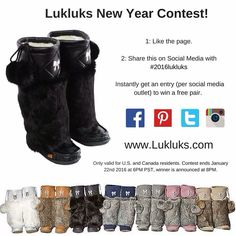 Lukluks: where fashion meets comfort and quality. Each pair of mukluks are hand crafted with the finest leather or suede, plush rabbit fur, and a crepe sole. Social Media Outlets, Fur Boots, Winter Boots, Passion For Fashion, It Is Finished, Pairs, Shoe Bag, My Style, Leather