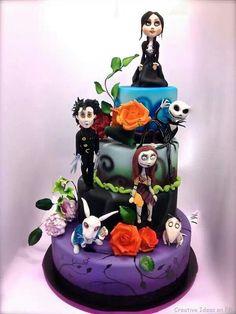 Tom Burton's movie character wedding cake