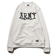 STUSSY / ARMY CREW SWEATER