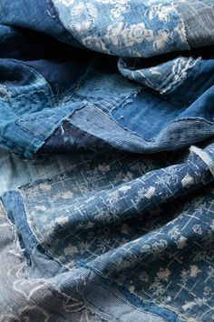 Antique indigo textiles