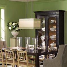 Sage green walls.. Exactly the colour I was thinking for the living room!