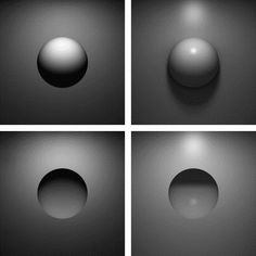 Depth Perception: Monocular cues •Light and shadow- nearby objects reflect more light to our eyes, dimmer seems farther.
