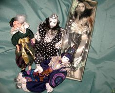 Harlequin Dolls | ... we are glad to offer you a lot of four exquisite Harlequin dolls