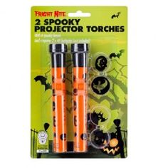 Light up your Halloween party with these spooky projector torches. Includes 4 spooky lenses. Each requires 2 x AA batteries. (Not included). This is a decoration and not a toy, keep out of reach of children.