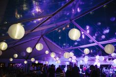 This is awesome! It's a tent but the lighting makes it look like it's indoors!