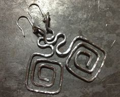 Aluminum earrings