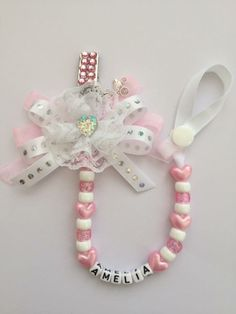 Pram Charms, Dummy Clips, Baby Jewelry, Beaded Ornaments, My Baby Girl, Stampin Up, Easter, Tutorials, Baby Accessories