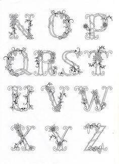 Alphabet Symbols, Hand Lettering Alphabet, Alphabet Stamps, Alphabet Design, Paper Quilling Flowers, Paper Quilling Designs, Floral Embroidery Patterns, Hand Embroidery Designs, Lyric Drawings