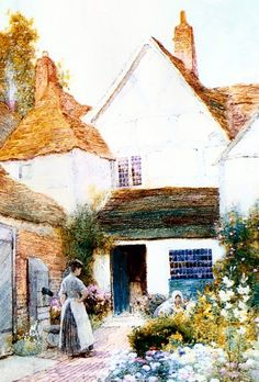 Arthur Claude Strachan (English, 1865-1929) ~   English Cottages