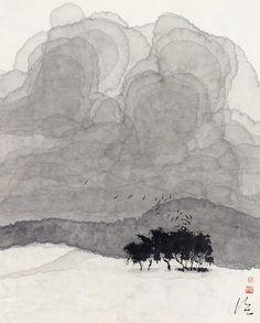 陳 家泠 Sumi E Painting, Japan Painting, Painting Snow, China Painting, Watercolor Projects, Watercolor Landscape, Watercolor Art, Japanese Drawings, Zen Art
