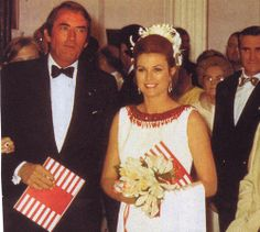 Princess Grace with Gregory Peck ,at Red Cross Ball 1970.