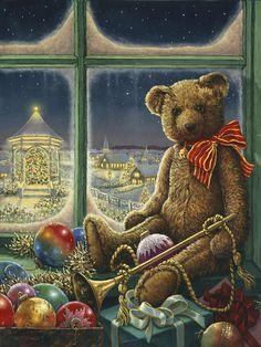 Ted bear celebrates Christmas
