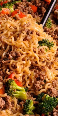 Beef Ramen Noodles Stir Fry is a quick budget-friendly way to use instant ramen! Instead of using ramen soup packets, you will make quick homemade sauce, packed with flavor! This healthy ramen noodles recipe is Stir Fry Recipes, Meat Recipes, Dinner Recipes, Cooking Recipes, Healthy Recipes, Quick Meals For Dinner, Cooking Icon, Healthy Food, Recipies
