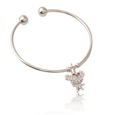 Rhinestone Rat Bracelet //Price: $10.00 & FREE Shipping // Rats, Free Shipping, Bracelets, Silver, Stuff To Buy, Jewelry, Jewlery, Jewerly, Schmuck