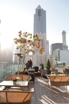Perch - rooftop French restaurant and bar with panoramic views of Downtown LA