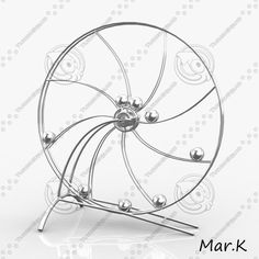 Perpetuum mobile 3 Model available on Turbo Squid, the world's leading provider of digital models for visualization, films, television, and games. Mobiles, Marble Machine, Marble Runs, Sculpture, Clocks, Technology, Awesome, Google, Manualidades