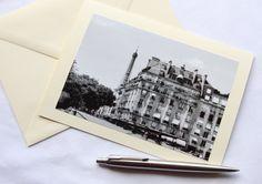 Eiffel Tower Paris Greeting Card Blank Card by RoisinGracePhotos