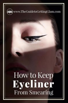 Three makeup tips on how to keep eyeliner from smearing. Want to keep your eyeliner in place all day? Read more. Smudged Eyeliner, No Eyeliner Makeup, Eyeliner Tricks, Eyeliner Styles, Eyeliner Pencil, Party Makeup Looks, Bridal Makeup Looks, Learn Makeup, How To Apply Makeup