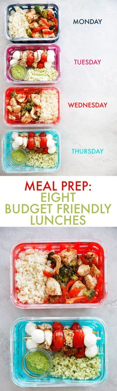 Meal Prep: 8 Budget Friendly Lunches - Lexi's Clean Kitchen #mealprep #healthy #cleaneating #lunches #easy #budget