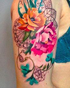 Fairytale-Inspired Tattoo Art That Looks Like Water Paintings  - ELLEUK.com