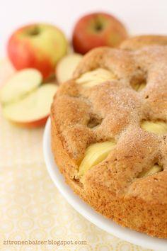 Zitronenbaiser: Ich back's mir vegan: Versunkener Apfelkuchen